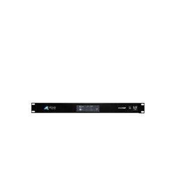 Picture of AMO 2 x 250 watt power amplifier with full DSP